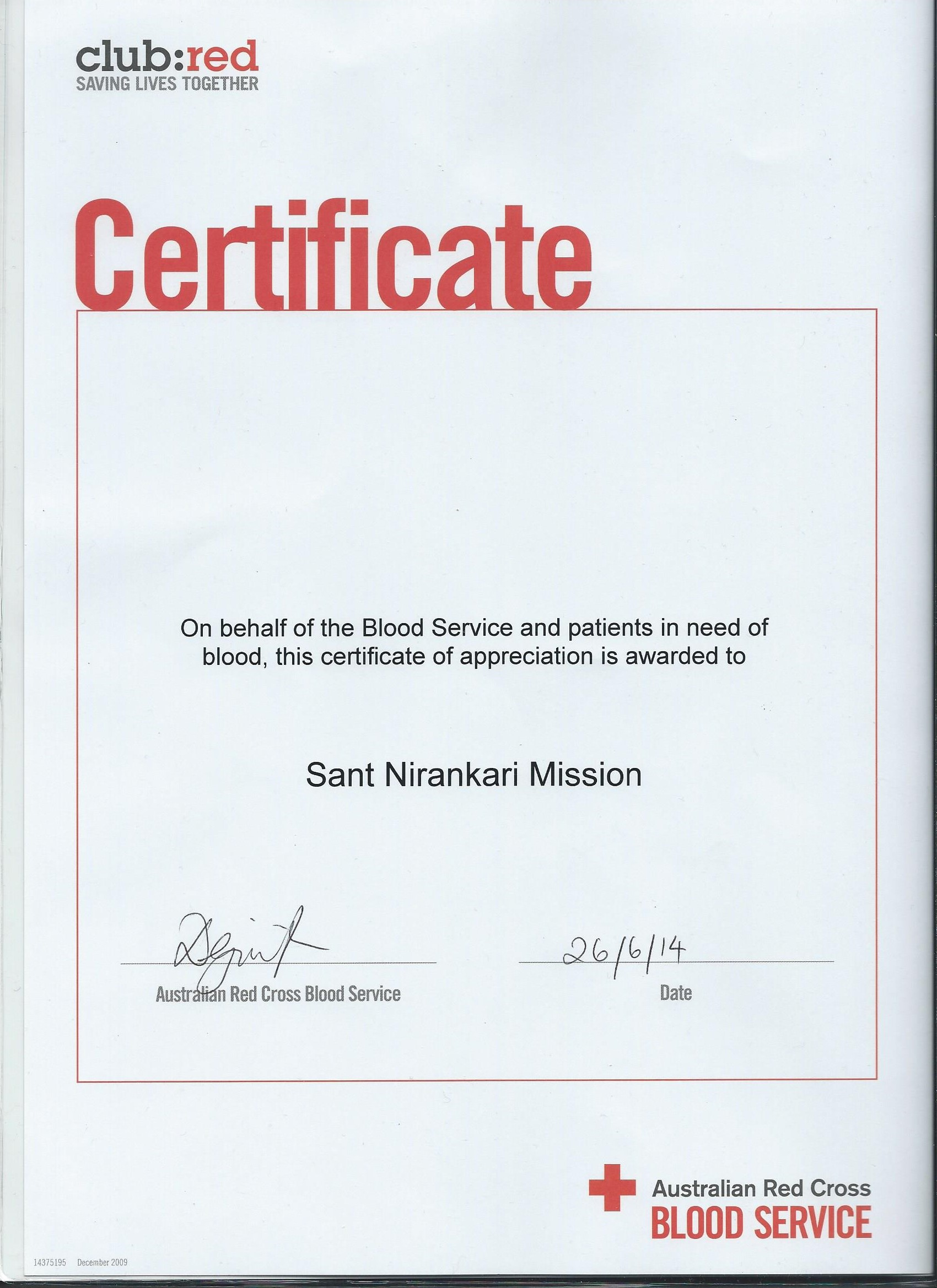 Snm adelaide 9th blood donation reports blood donation certificate yelopaper Choice Image